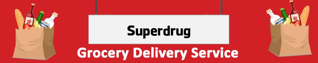 supermarket delivery Superdrug